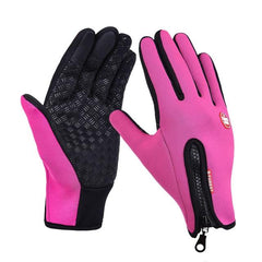 B-Forest Gloves Windproof Waterproof Touchscreen Pink Winter Outdoor Exploration Ski Cycling Snowboard Hiking Hunting Fishing