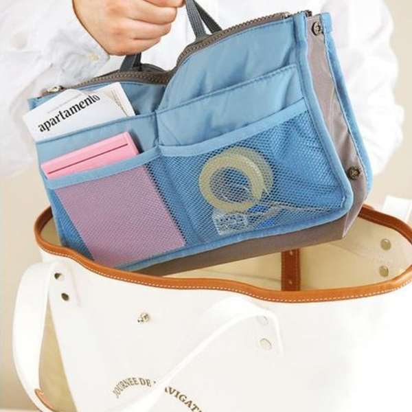 Bag'O Bag Organizer Blue switch purse handbag insert hand