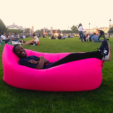 Banana Air Sofa Inflatable Pink Boy Park