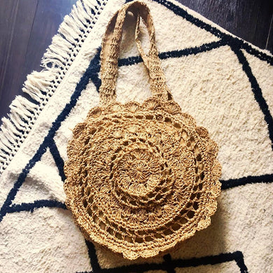 Boho Chic Round Straw Bag Summer It Bag Bali Bag