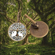 Tree Of Life Creole Earrings Bronze Forest