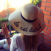 Do Not Disturb Straw Hat Panama Peace Woman