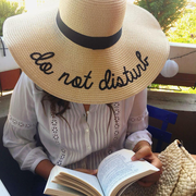 Do Not Disturb Hat Straw Woman Reading Book Panama