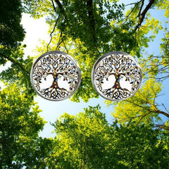 Tree Of Life Silver Earrings Forest