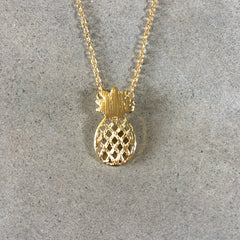 Pineapple Ananas Gold Plated Necklace
