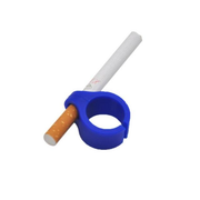 Gamers Plastic Ring Geek Cigarette Holder Playing Games Blue