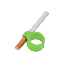 Gamers Plastic Ring Geek Cigarette Holder Playing Games Green