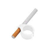 Gamers Plastic Ring Geek Cigarette Holder Playing Games White