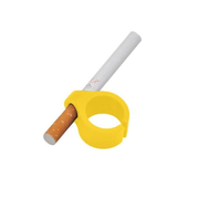 Gamers Plastic Ring Geek Cigarette Holder Playing Games Yellow