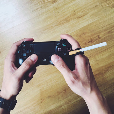Gamers Ring PS4 Cigarette Holder Geek Playing Games Black