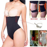 Glam Body Shaper Undetectable Breathable Hypoallergenic Corset Gaine Amincissante BodySuit Panties Slim Slimming Comfortable Woman Model Before After