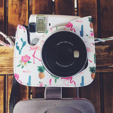 Instax Flamingo Case Pink Cactus Pineapple Polaroids