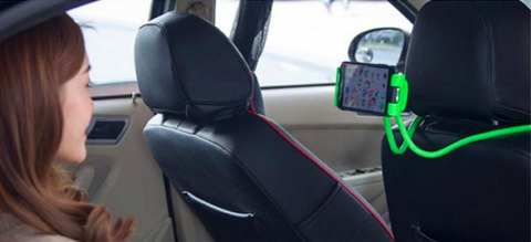 Lazy Phone Holder Android Smartphone Green Car Woman Watching Movie