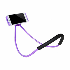 Lazy Phone Holder iPhone Purple Exhibition Front
