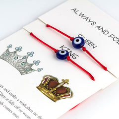 Lucky Eye Red Line Bracelet Queen King
