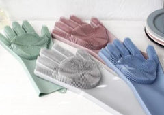 Magic Gloves Silicone Washing Dishes Cleaning Pet Colors
