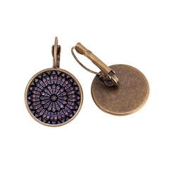 Notre-Dame de Paris Rose Window Earrings