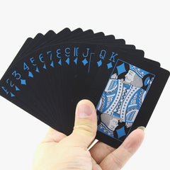Playing Cards Quality Plastic PVC Waterproof Black Durable Resistant Poker BlackJack Creative Gift Hand Diamonds Deck