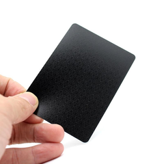 Playing Cards Quality Plastic PVC Waterproof Black Durable Resistant Poker BlackJack Creative Gift Hand Card