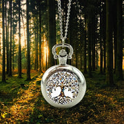 Tree Of Life Silver Pocket Watch Forest