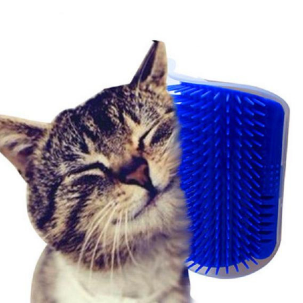 Self-Massage Brush Cats Grooming Blue Silicone