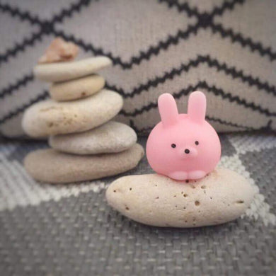 squishy rabbit pink cute stress reliever
