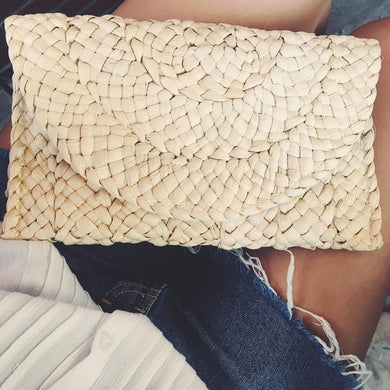 Straw Clutch Knitted Outfit Must Have It Bag