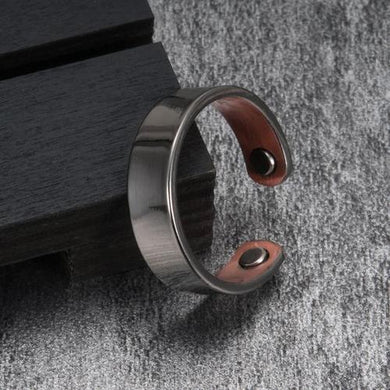 Therapeutic Energy Ring Healing Magnets Magnetic Man Quality Copper Silver Beautiful
