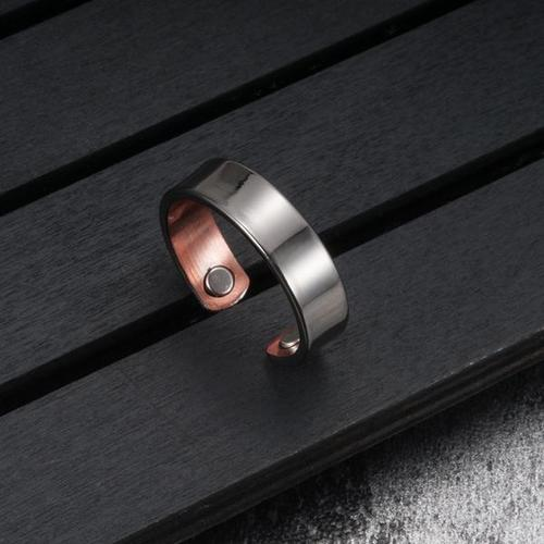 Therapeutic Energy Ring Healing Magnets Magnetic Man Quality Copper Silver