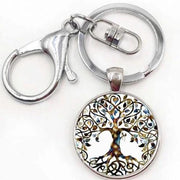 Tree Of Life Key Chain Key Ring Silver