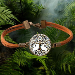 Tree Of Life Velvet Bracelet Forest