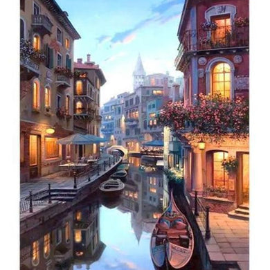 Venice Painting Venise Italy Gondolas Romantic Paints Paint By Number Kit