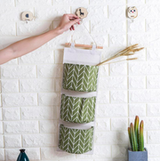 Wall Storage Basket Organization Green Wheat