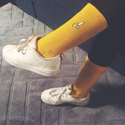 banana socks girl hipster basket sneakers