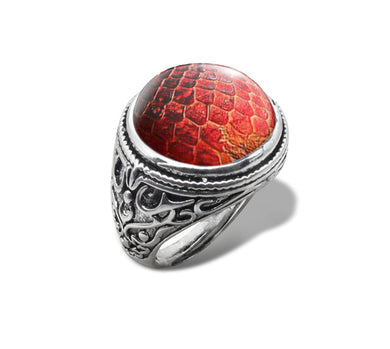 dragon ring got game of thrones dracarys fire silver