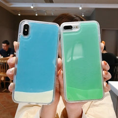 phosphorecent blue  and green iphone case fluo