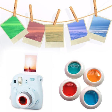 Instax Camera Color Filter Lens Polaroid Fujifilm Picture Mini8 Mini7 MiniKT Red Orange Green Blue Hanging