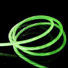 green led charging cable iphone android type c