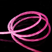pink led charging cable iphone android type c