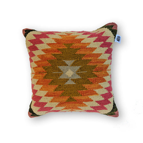 TINGARA ORANGE KILIM PILLOW