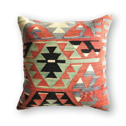 ORANGE ECLECTIC KILIM PILLOW