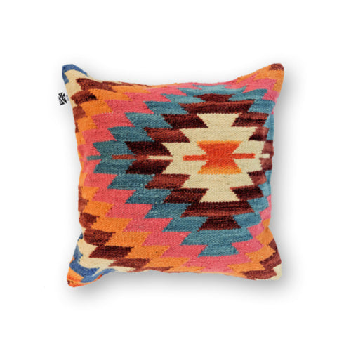 ORANGE BOHO KILIM PILLOW