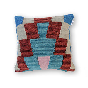 DEEP BURGUNDY CHIC KILIM PILLOW
