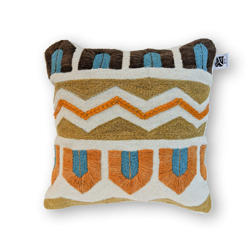BROWN ECLECTIC KILIM PILLOW