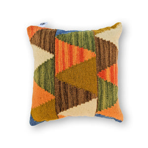 BROWN ARTSY KILIM PILLOW