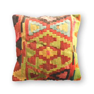 ORANGE BOHEMIA KILIM PILLOW