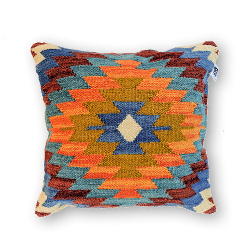BLUE FUNKY KILIM PILLOW