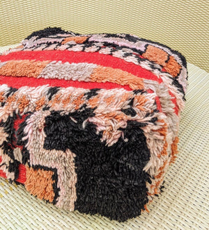 RED TRENDY Shaggy Pouf