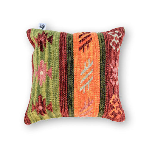 GREEN GROOVY KILIM PILLOW
