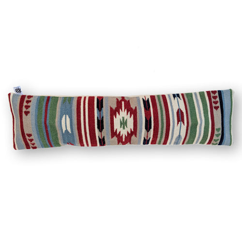 DEEP RED ARTSY KILIM LUMBAR PILLOW